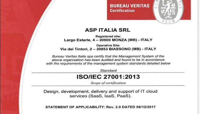 Certificazione ASP ITALIA