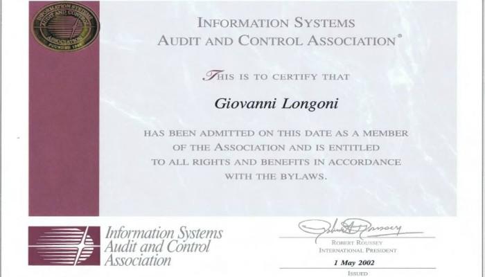 Certificato ISACA di ASP ITALIA