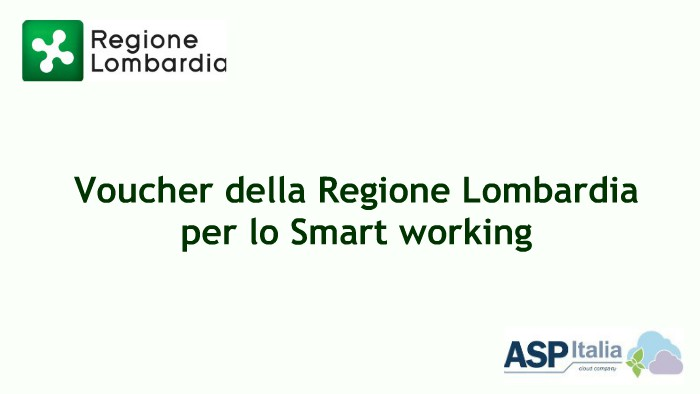 Voucher Della Regione Lombardia Per Lo Smart Working